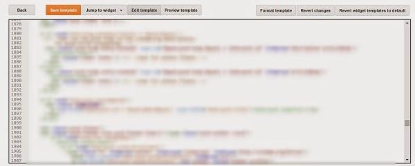 edit Blogger HTML code