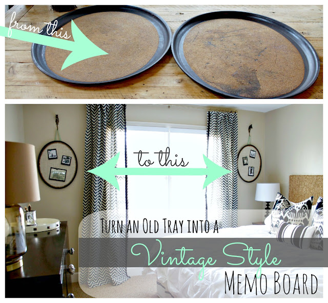 diy memo board from an old tray
