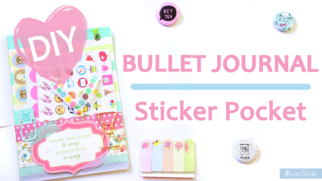 bullet journal diy sticker pocket. Black Bedroom Furniture Sets. Home Design Ideas