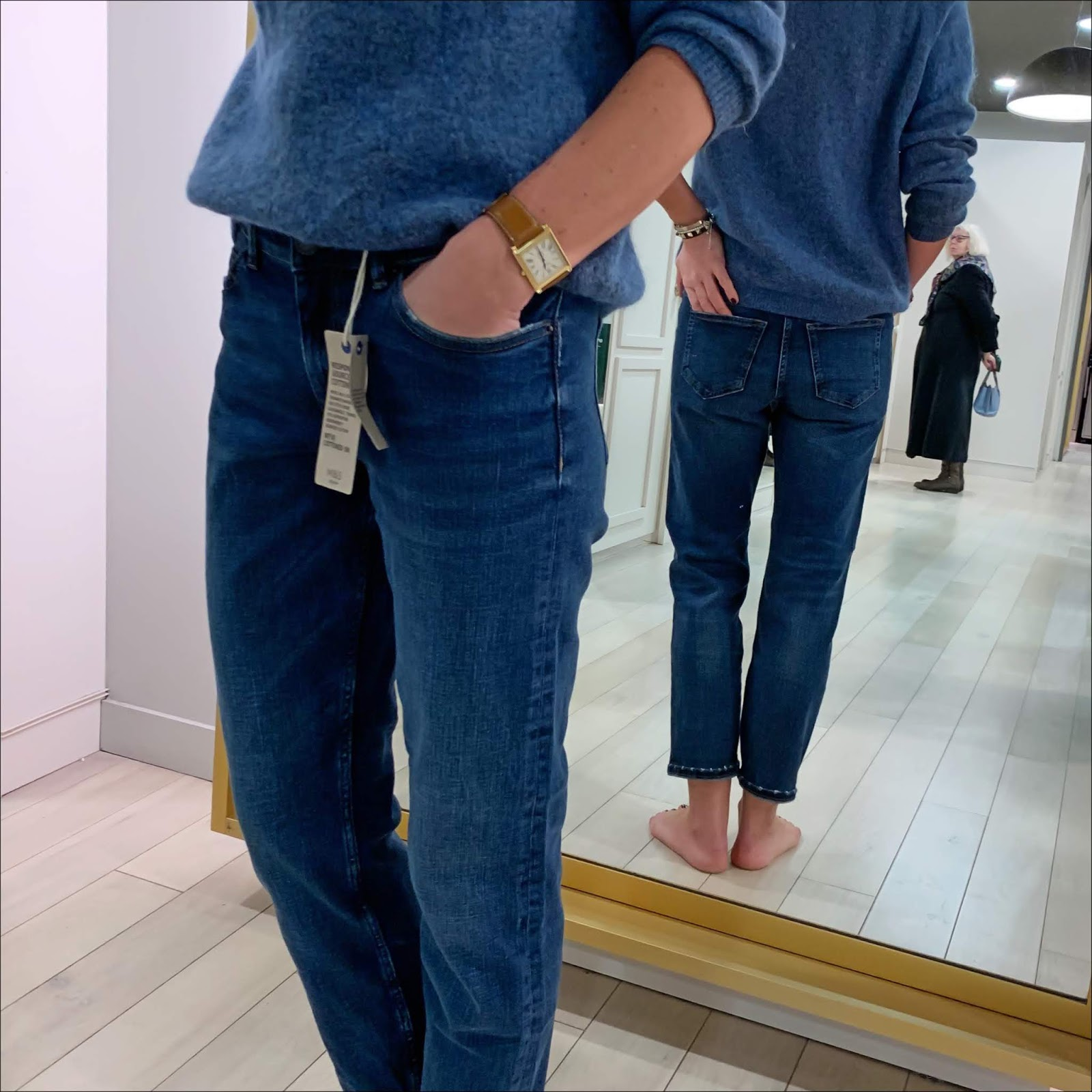 my midlife fashion, marks and spencer mid rise relaxed slim leg jeans