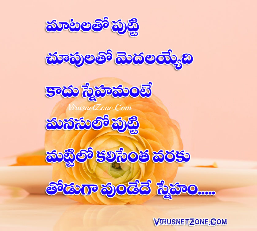 Best True Friendship Quotations Images In Telugu Wallpapers Virus Custom Latest Quotations