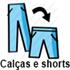 Calças e shorts (aparece ao passar o mouse)