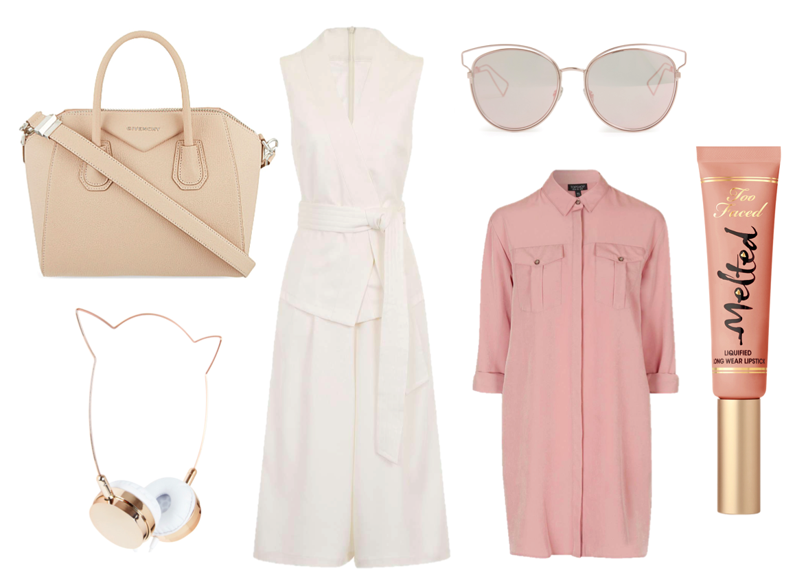 high street, luxury bags beauty accessories make up culotte jumpsuit shirt dress topshop skinny dip dior sunglasses