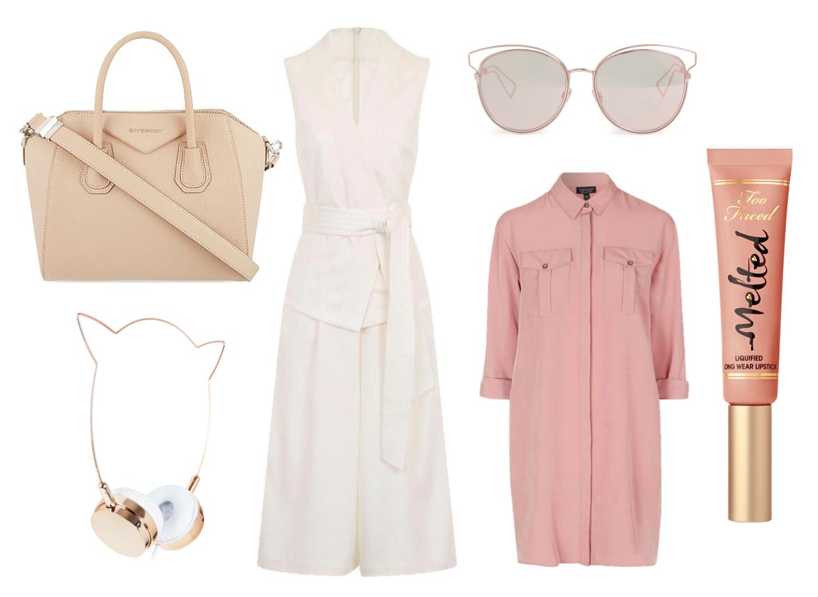 high street, luxury bags beauty accessories make up culotte jumpsuit shirt dress topshop skinny dip dior sunglasses