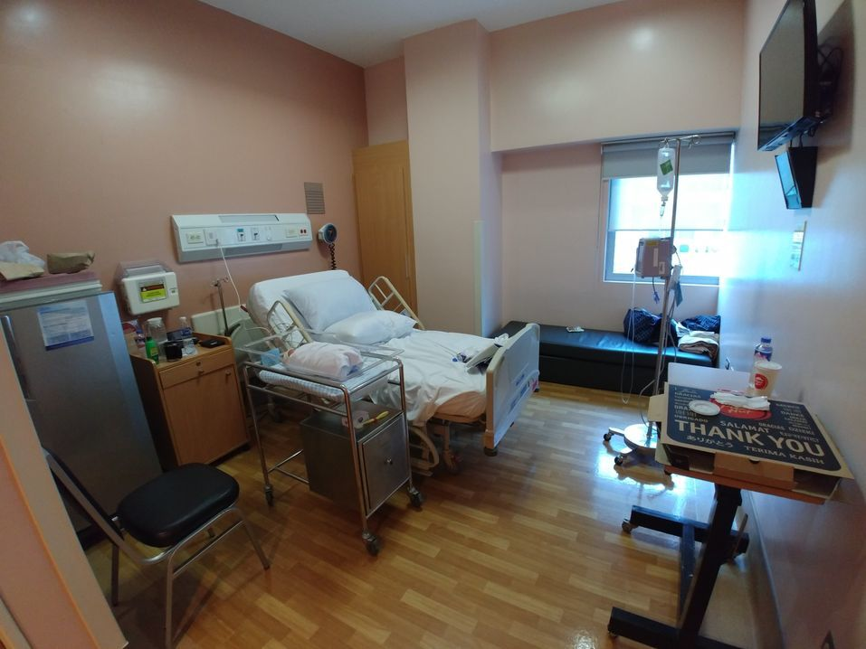 Private room at St. Luke's Medical Center BGC
