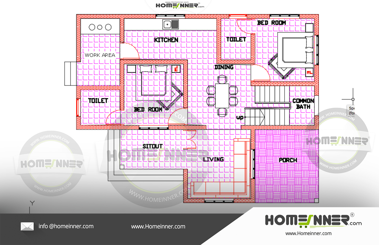 2000 sq ft 4 bedroom Kerala house plans