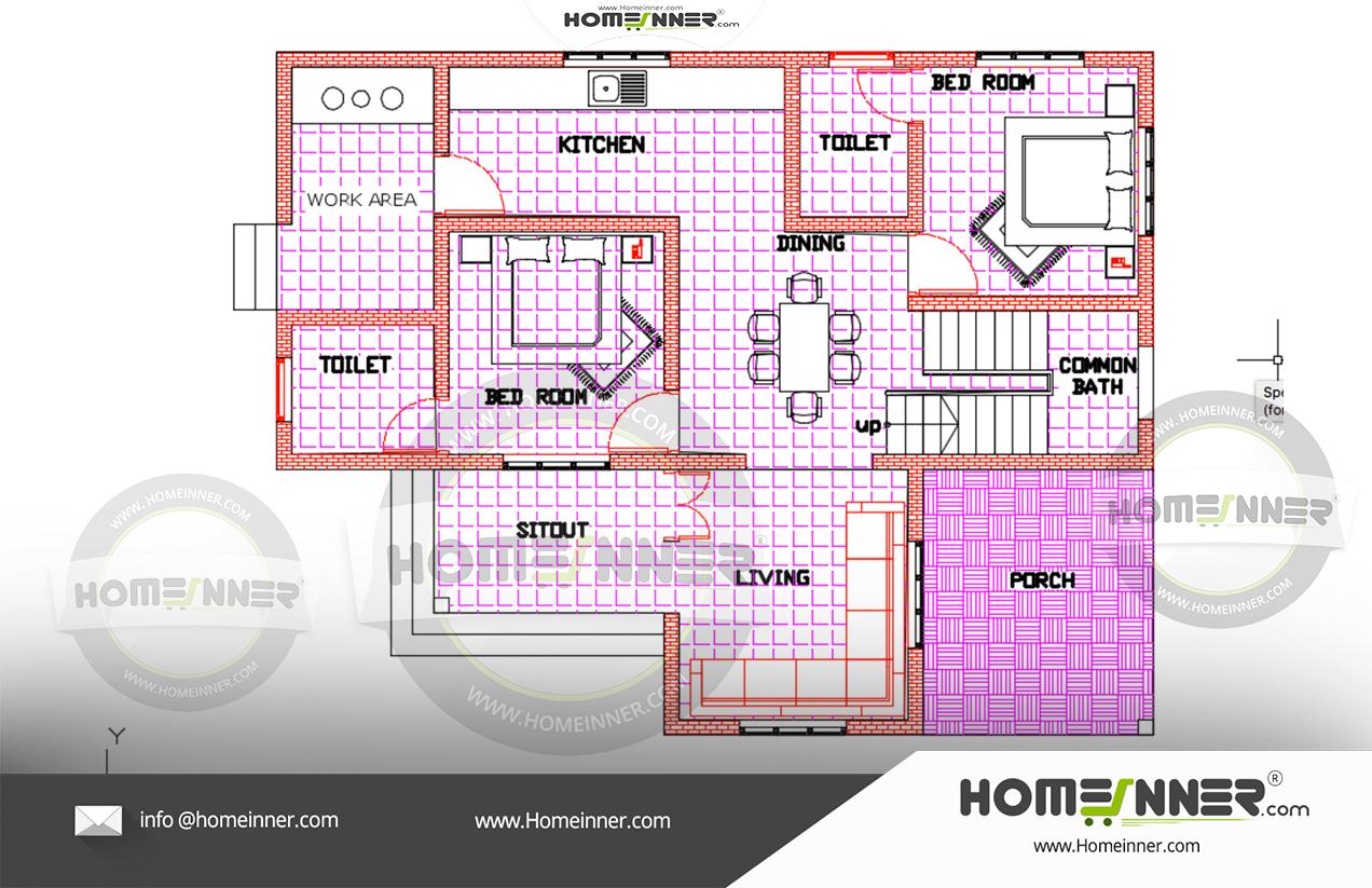 2000 Sq Ft 4 Bedroom Kerala House Plans