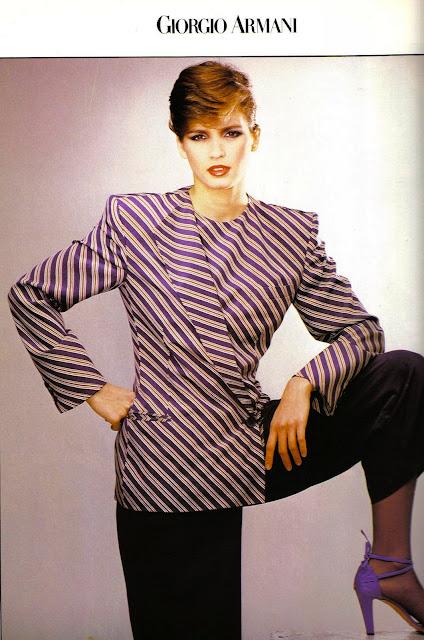 Gia Carangi for Giorgio Armani 1980 - Vogue Italia