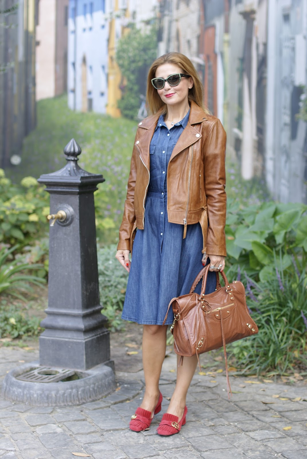 How to wear cognac leather on Fashion and Cookies fashion blog, fashion blogger style
