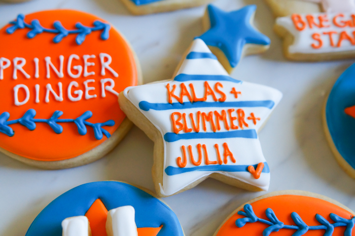 Houston Astros Cookies ♥ bakeat350.net : Kalas + Blummer + Julia