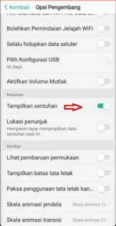 Cara Menampilkan Dan Menghilangkan Titik Sentuh Virtual Di Android
