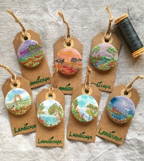 Countriside Inspired Embroidery Art – Insta Love