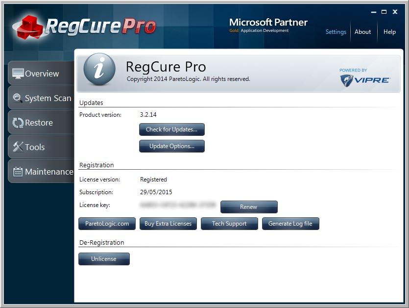 regcure 1.4.0.4