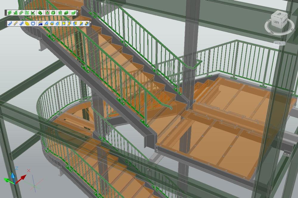las escaleras se pueden modificar mediante cuadros de dialogo de propiedades