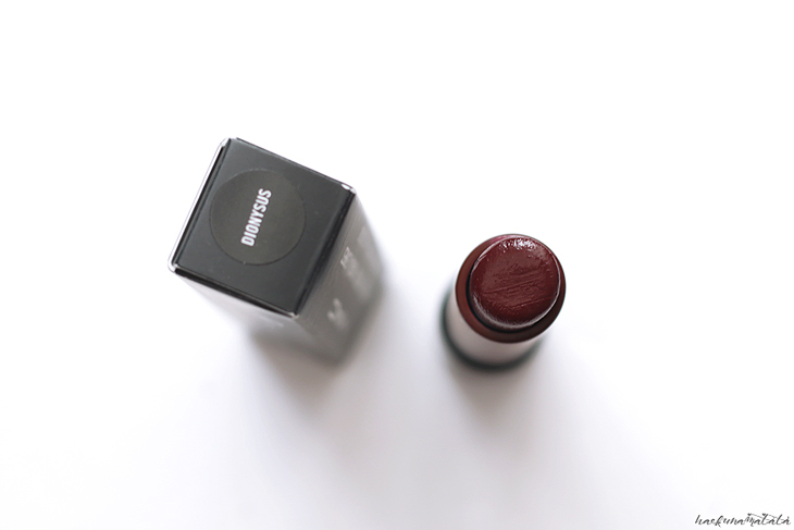 MAC Dionysus Liptensity Lipstick Swatches, Review, FOTD