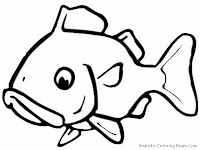 Big Gold Fish Realistic Coloring Pages
