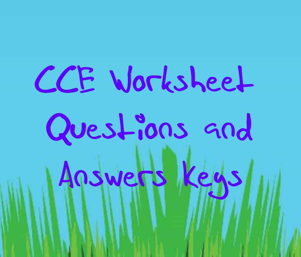 Cce Worksheet Questions 1st To 10th Standard