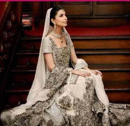 Gold Pakistani Bridal Wedding Dresses