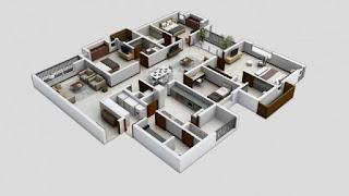pelan lantai rumah 4 bilik
