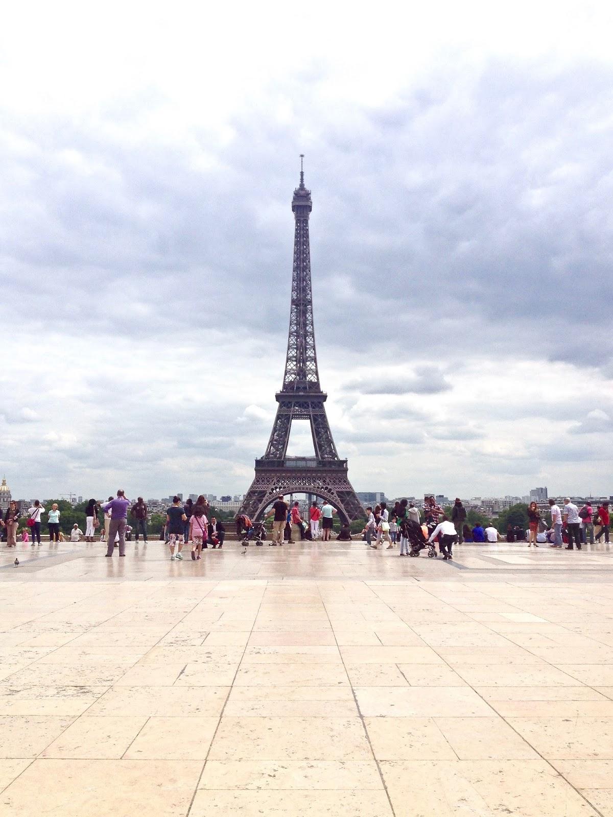 paris Eiffel tower clouds