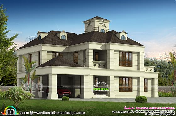 4 bedroom colonial home plan 3600 sq-ft