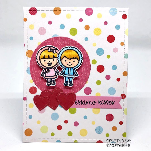 Sunny Studio Stamps: Eskimo Kisses Customer Card by Crafteeme