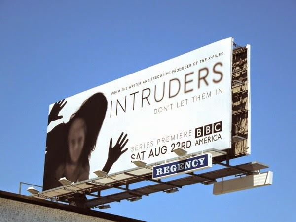 Intruders series launch billboard