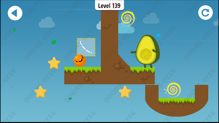 Where's My Avocado? Level 139 Solution, Cheats, Walkthrough, 3 Stars for Android, iPhone, iPad and iPod