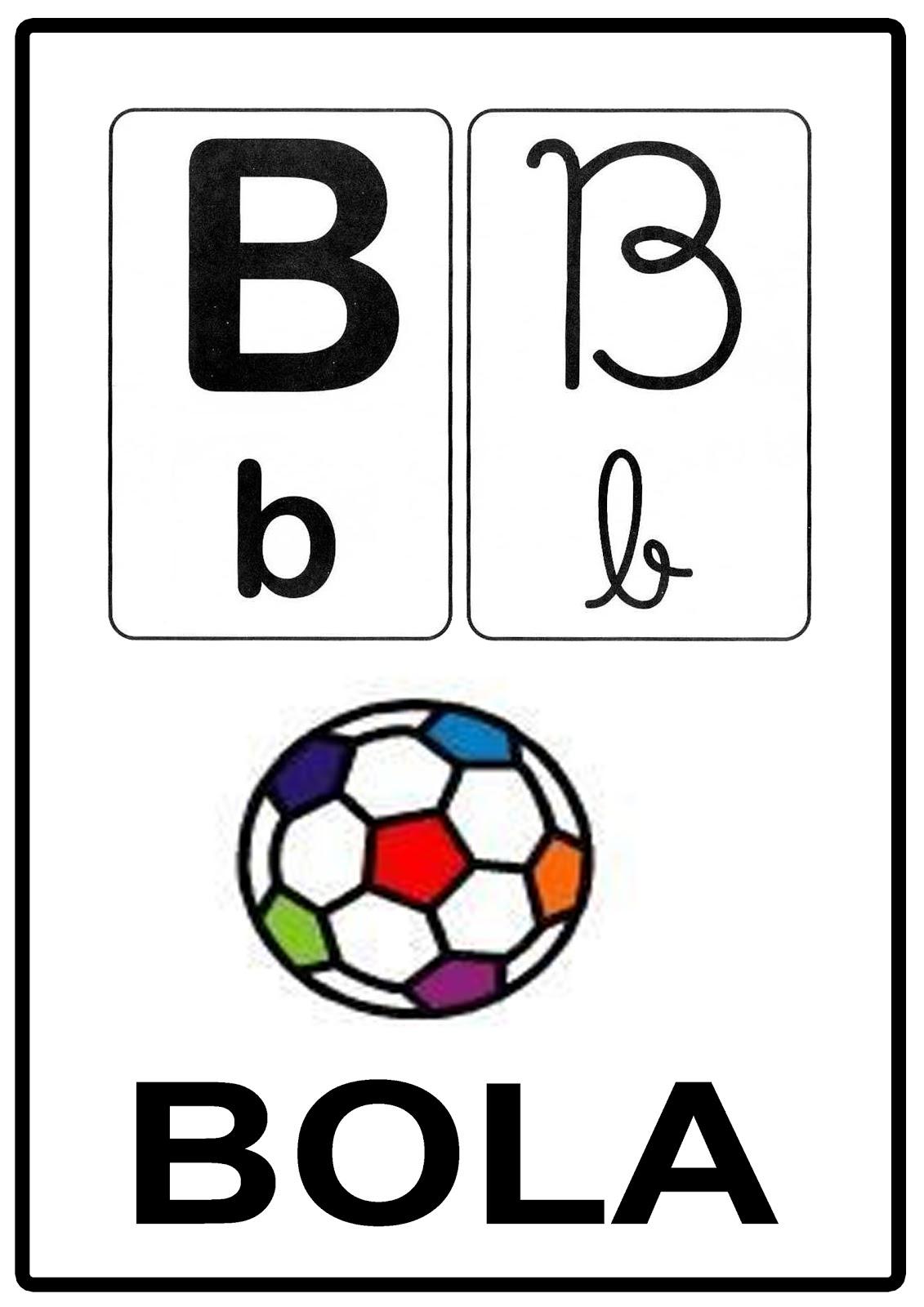 Alfabeto para sala de aula letra b for B b com