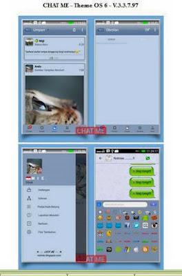 BBM Mod Chat Me Theme OS 6 V3.3.7.97 Apk
