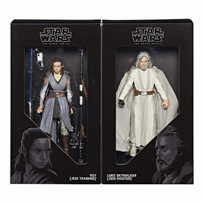 "San Diego Comic-Con 2017 Exclusive Star Wars The Last Jedi Rey & Luke Skywalker Black Series 6"" Action Figure Set by Hasbro"