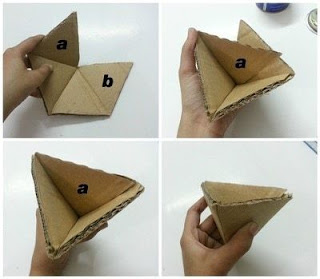 Triangle origami DIY