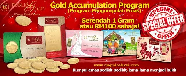 Simpan Emas Serendah 1 Gram dengan GAP Public Gold