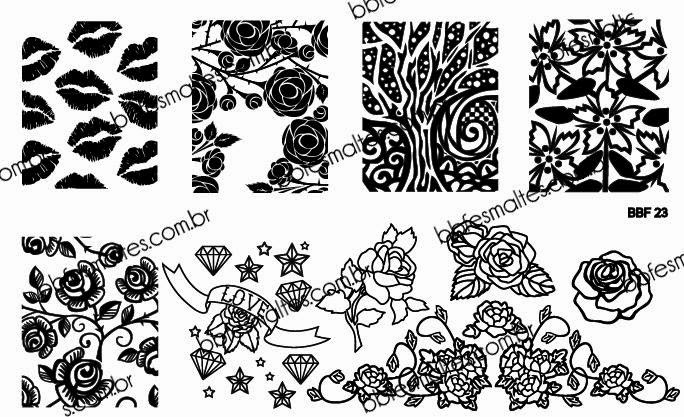Lacquer Lockdown - Loja BBF, LojaBBF, BBF plates, stamping, nail art, new stamping plates 2014, new nail art plates 2014, new image plates 2014, pueen 2014, cici and sisi, stamping nail art, new plates 2014, diy nail art, at home nail art, cute nail art idea, roses, tattoo nail art, tattoo nais, tattoo nail art designs