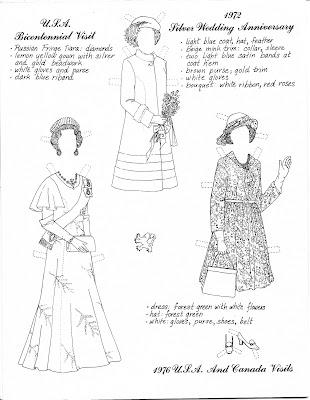 Mostly Paper Dolls: Queen Elizabeth II Silver Jubilee