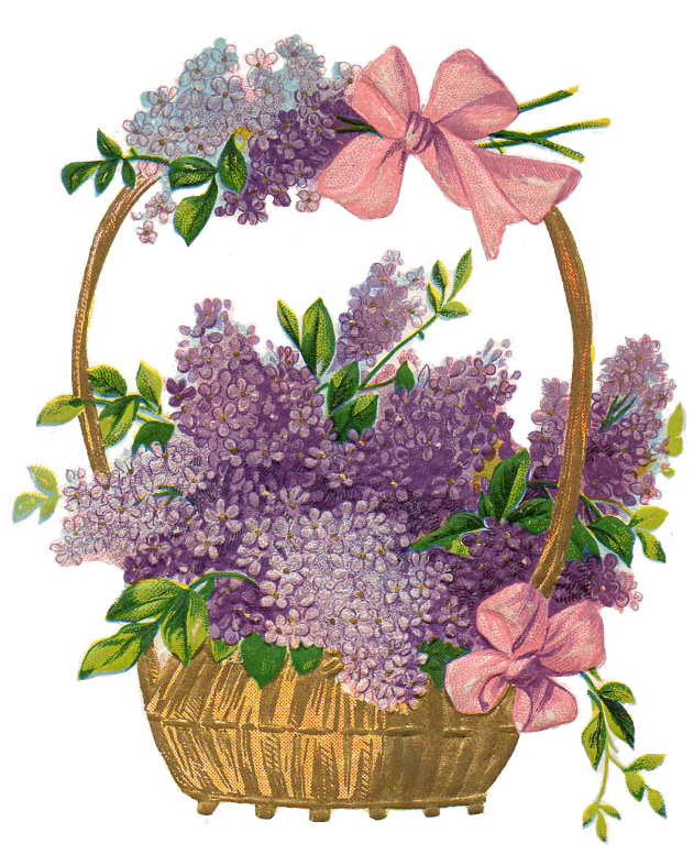 Leaping Frog Designs: Free Image Easter Basket PNG Lilacs ...