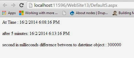 DateTime difference in milliseconds in C# Programming