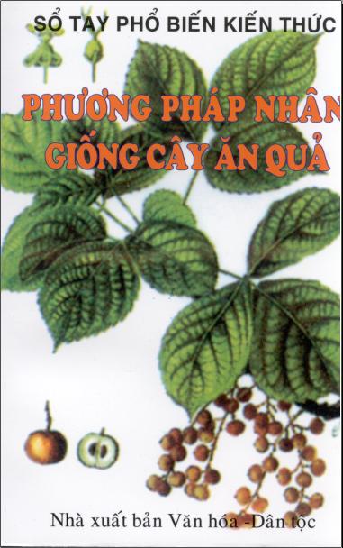 """Bìa tài liệu """"Phương pháp nhân giống cây ăn quả"""""""