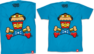 "Wonder Woman ""Super Lady Crossbones"" T-Shirt by Johnny Cupcakes"