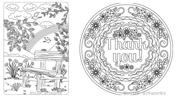 FREE the bench coloring page