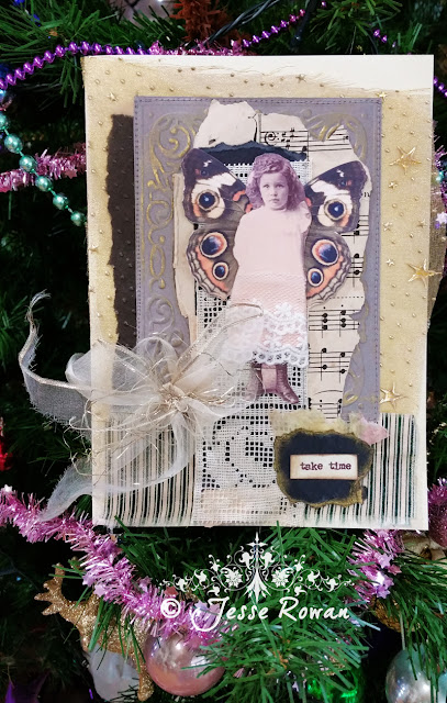 Christmas fairy card by Lace Age Girl