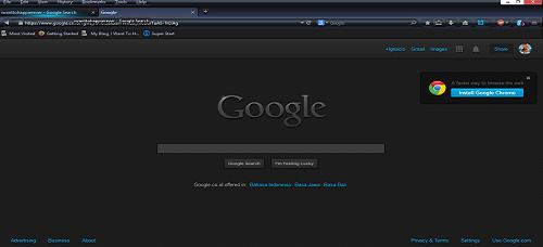 Tampilan Google.com