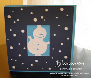 simple snowman window card