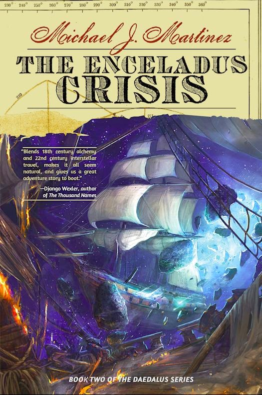 Cover Revealed - The Enceladus Crisis by Michael J. Martinez