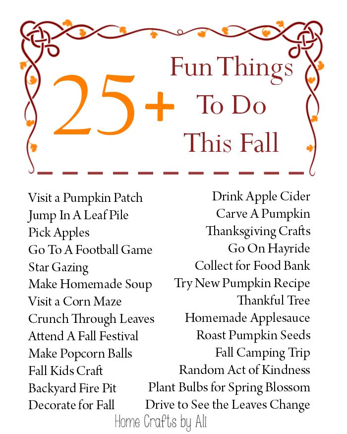 25 Fun Things To Do This Fall  Home Crafts by Ali