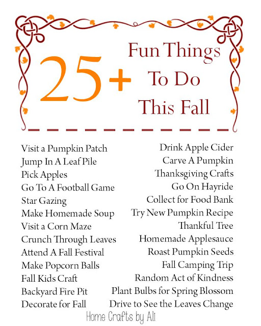 Free Printable - 25+ Fun Things To Do This Fall
