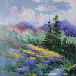 Mountain Stream, New Contemporary Landscape Painting by Sheri Jones