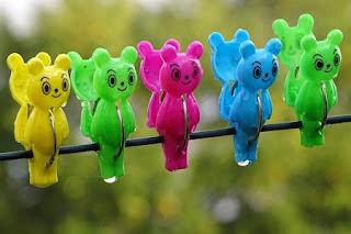 Muffa vestiti colorati