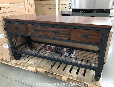 Whalen Industrial Metal And Wood Workbench Costco Weekender