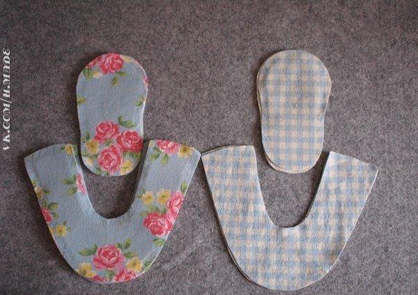 Шьем обувь для куклы мастер класс пошагово #8